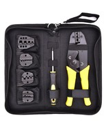 Wire Crimpers Terminals Pliers Kit Cable Cutter(Yellow) - $39.68