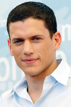 Wentworth Miller Candid smiling white shirt 18x24 Poster - $23.99