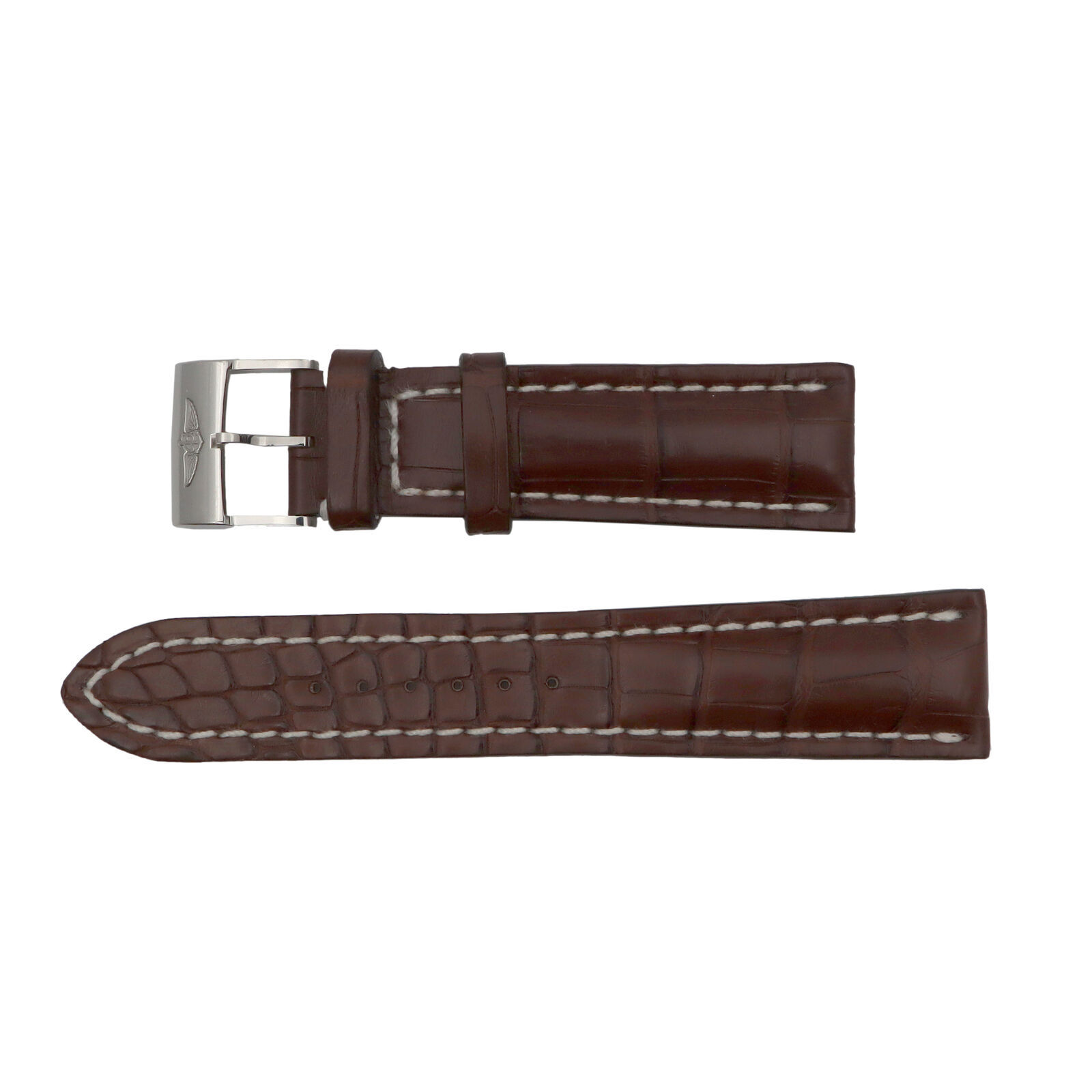 Primary image for Breitling 756P 24-20mm Alligator Leather Brown Mens Watch Band with Buckle