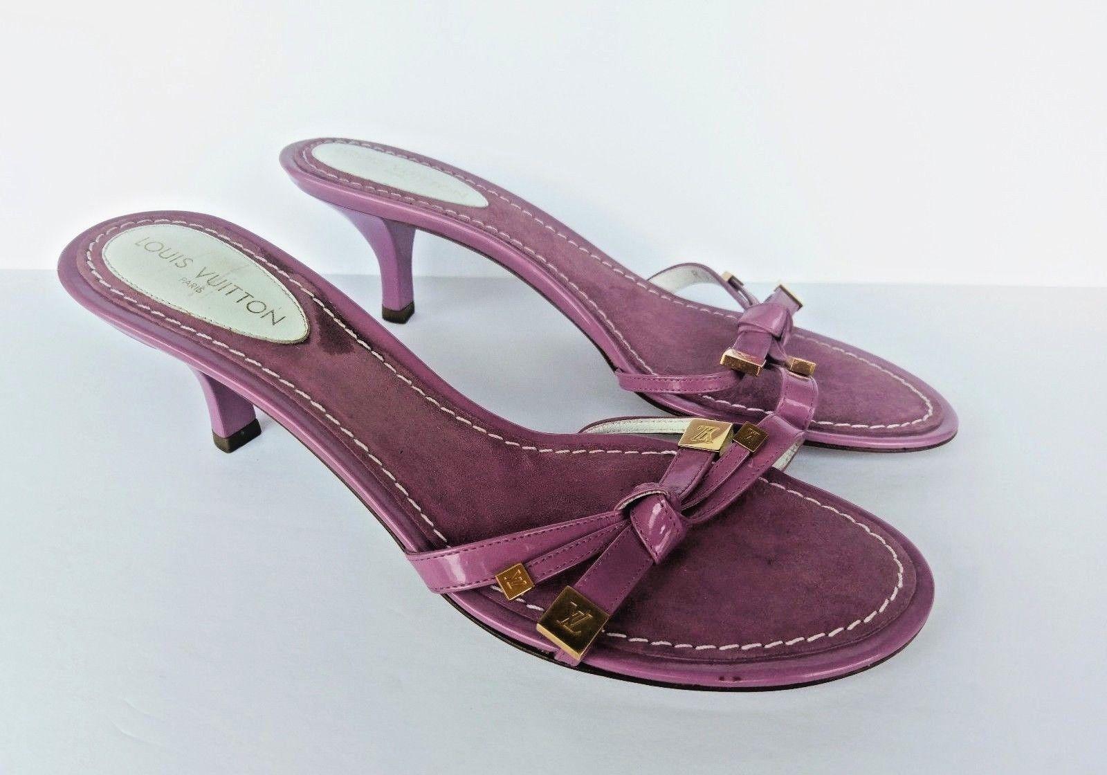 28dca7646698 Louis Vuitton Purple Ribboned Strap Slide and 14 similar items. 57