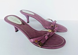 Louis Vuitton Purple Ribboned Strap Slide Slip On Sandals Size 37 1/2 / 7.5 - $237.45