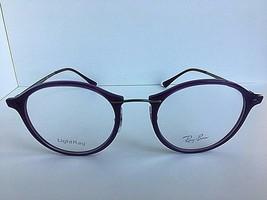 New Ray-Ban RB 7370 1756 LightRay 49mm Rx Round Purple Women's Eyeglasses Frames - $99.99