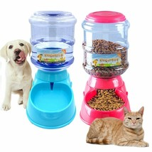 Food Dispenser 3.5L Automatic Pet Feeder Dog Drinking Fountain Dogs Cat ... - $24.29