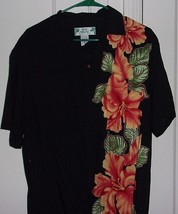Two Palms Mens Medium Button Front Short Sleeve Hawaiian Shirt Made in H... - $22.46