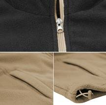 Men's Full Zip-Up Two Tone Solid Warm Polar Fleece Soft Collared Sweater Jacket image 7