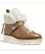 COACH URBAN HIKER Shearling Leather Platform Boots - $188.09