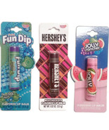 Lot of 3 lip balm Apple, Watermelon, chocolate Fun Dip Jolly Rancher Her... - $10.00