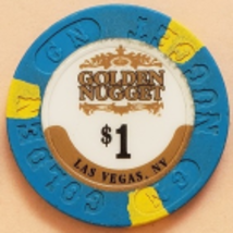 Golden Nugget Las Vegas, Nevada $1 Casino Chip - $2.95