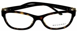 New Bvlgari Eyeglasses Frame Women Rectangular Brown Havana BV4082B 504  - $226.71