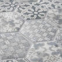 """SomerTile FTC2MDBL Medley Hex Porcelain Mosaic Floor and Wall, 11.125"""" x 12.625"""" image 8"""