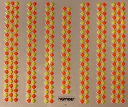 BANG STORE Nail Art 3D Decal Stickers Neon Yellow & Orange Checkered Pattern  - $3.16