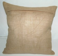 Surya Goose Feather Down Seeds Throw Pillow Pure Jute Cover image 2