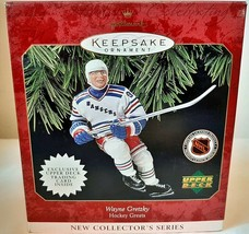 1997 Wayne Gretzky Hockey Greats Upper Deck Hallmark Ornament with Card - $14.25