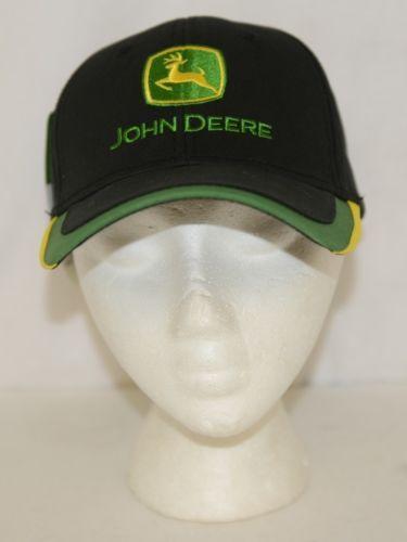 John Deere LP48958 Structured Cap 1837 On Back Black Green Yellow