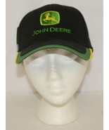 John Deere LP48958 Structured Cap 1837 On Back Black Green Yellow - $15.95