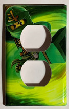 Ninjago LLOYD green Light Switch Outlet duplex wall Cover Plate Home Decor image 2