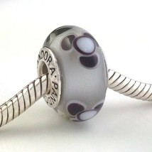 Authentic PANDORA Flowers for You Gray Charm 790642, Retired, New - $23.74