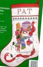 Needle Treasures Sam the Snowman Snow Christmas Cross Stitch Stocking Ki... - $42.95