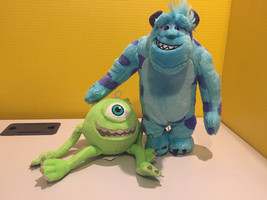 Soft Plush Cuddly Toys MIKE Wazowski SULLY/Sulley 30cm MONSTERS INC Disney - $17.24