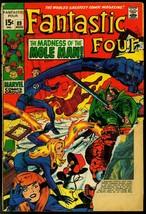 FANTASTIC FOUR #89 1969-JACK KIRBY-MARVEL-MOLE MAN FR - $18.62