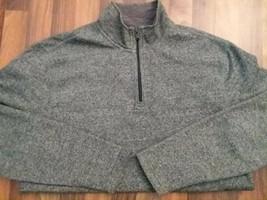 New IZOD Men 1/4 zip pullover jacket medium Saltwater Relaxed green nwot - $11.51
