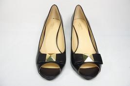 Liz Claiborne Elmes Peep-Toe Pumps Black Size 9.5M - $29.02