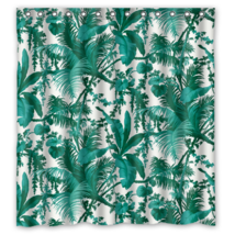 Banana Leaf Pattern #018 Shower Curtain Waterproof Made From Polyester - $38.07+