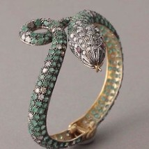 4.10Ct Rose Cut Diamond Silver Anniversary Vintage Inspired Bracelet sR9... - $950.00