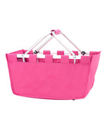 Viv and Lou Hot Pink Market Tote with Durable Removable Aluminum Frame - $35.95