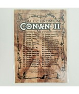 Conan II 2 All Chromium Collector Cards By Comic Images 1994 Full Set - $39.95