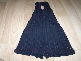 Child Size Large Kelle Dance Costume Short Unitard Black Red Glitter Str... - $22.00