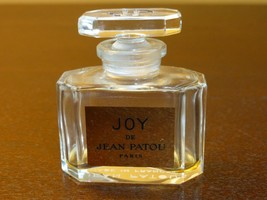 """Vintage Joy De Jean Patou Paris Bottle with Glass Stopper - 2"""" High - $24.95"""
