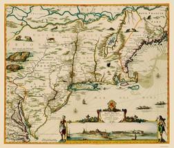 US East Coast, Chesapeake Bay to Maine 1685 - 23 x 27 - $36.95+