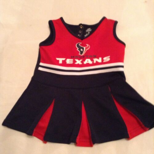 Primary image for NFL Team Apparel dress Size 2T Houston Texans cheerleader uniform blue red
