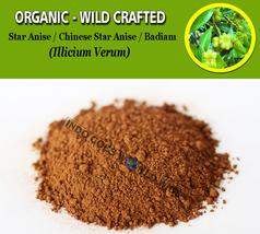 POWDER Star Anise Chinese Star Anise Badiam Illicium Verum Organic Wild ... - $7.99+