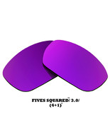 Replacement Lenses for Oakley Fives Squared Sunglasses Anti-Scratch Purple - $12.49