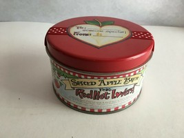 """Pelican Bay Red Hot Lovers Hearts  Empty Tin Can 4"""" Round by 2.25""""  - $9.65"""