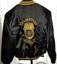 Vintage Teamsters Union Local 229 Scranton PA Pro Fit Satin Jacket Coat ... - $49.45