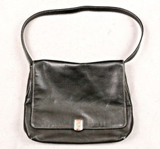 Ralph Lauren Black Leather Women's Purse Single Strap Shoulder Bag Flap ... - $25.73