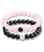 2 Pcs/set Fashion Couple Tiger Eye Stone Bracelets Bangles Classic Black... - $15.74