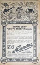 Mundus Beer 1914 Detroit Free Press Newspaper Ad - Snowed Under With Req... - $9.99