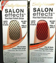 Set of 2 Sally Hansen Salon Effects Nail Polish Strips 350 MISBEHAVED & ... - $12.86