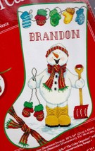 Needle Treasures Snow Happy Snowman Shoveling Cross Stitch Stocking Kit ... - $84.95