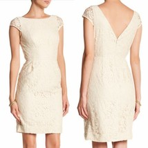 J. Crew Elsa Leavers Lace Dress Ivory Wedding Size 10 $228 - $79.19