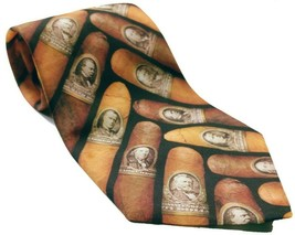 Ralph Marlin Men's Cigar Money Band Print Necktie Novelty - $12.75