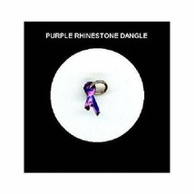 PURPLE  Rhinestone RIBBON  Nail Art Dangle Jewelry - $5.20