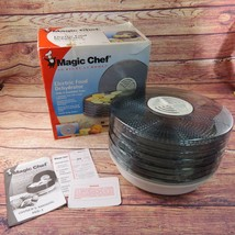 Magic Chef Electric Food Dehydrator With 5 Stackable Trays 469-1 Box Manual - £22.22 GBP