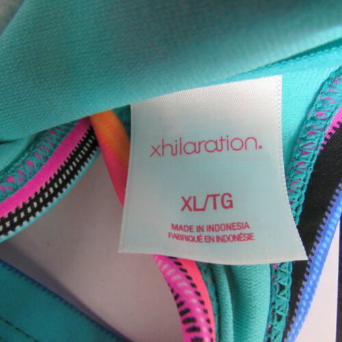 Xhilaration Top Bikini Mujer XL Rosa Azul Verde