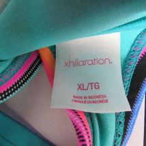 Xhilaration Top Bikini Mujer XL Rosa Azul Verde image 3