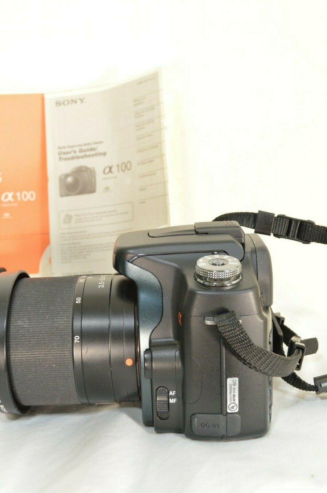 Sony Alpha a100 10.2MP Digital SLR Camera - Black (Kit w/ DT 18-70mm Lens) image 5